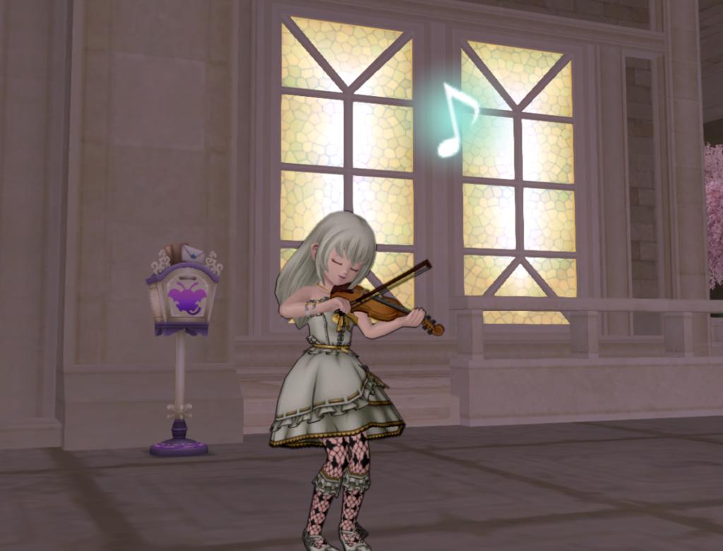 カジノレイド終わったね♪ 【しぐさ書・演奏ヴァイオリン】をもらったよ♪