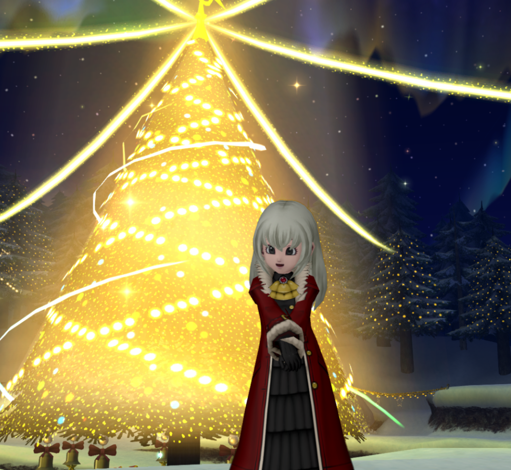 ドラクエ10 星の大樹広場で、ちょっと早いクリスマス♪