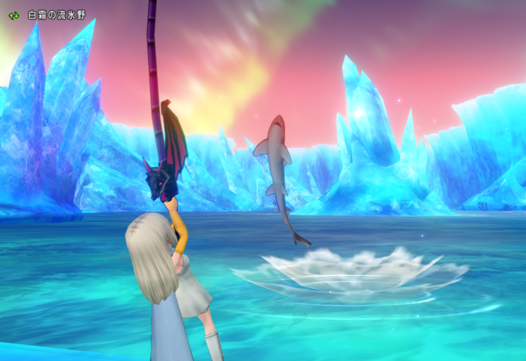 ドラクエ10 釣りって儲かるの? 氷晶の聖塔前で10回だけ釣ってみたよ♪